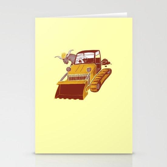 Bulldozin'  Stationery Cards