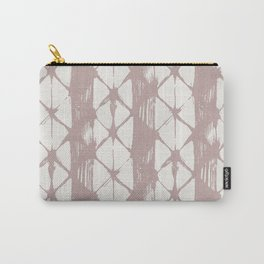 Simply Braided Chevron Clay Pink on Lunar Gray Carry-All Pouch