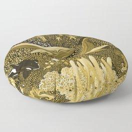 Golden Marine Menagerie Floor Pillow
