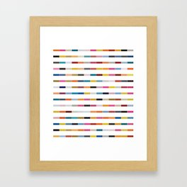 Dot // Dash // Dash // Dot Framed Art Print
