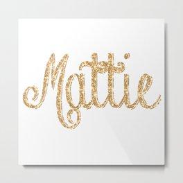 Mattie pillow Glitter Glistening! Metal Print