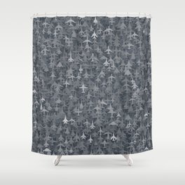 Airplanes camouflage Shower Curtain