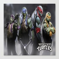 ninja turtles Canvas Prints featuring ninja turtles  , ninja turtles  games, ninja turtles  blanket, ninja turtles  duvet cover by ira gora