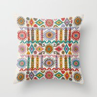 southwest Throw Pillows featuring Southwest by Helene Michau