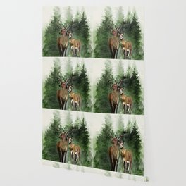 Deers in the Forest Wallpaper