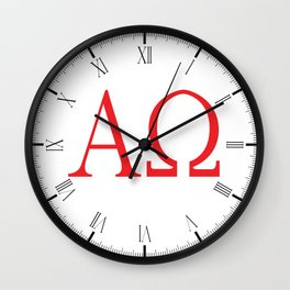 Alpha Omega Wall Clock