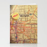 memphis Stationery Cards featuring Hello Memphis by CAPow!