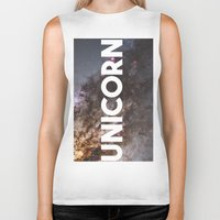 the last unicorn Biker Tanks featuring Unicorn by eARTh
