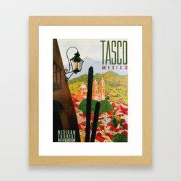 Vintage Tasco Mexico Travel Framed Art Print