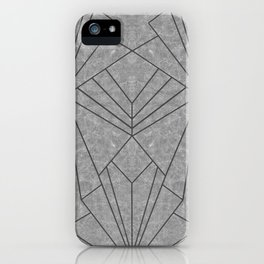 Art Deco in Black & Grey - Large Scale iPhone Case
