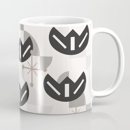 Atomic Era Funky Flowers (Silver) Coffee Mug