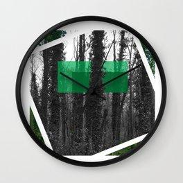Modern Forest Wall Clock