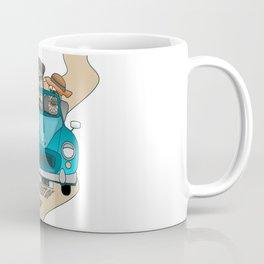 English Bulldog Best of British in Car  Coffee Mug