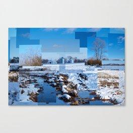 The Barn Looks Kinda Blocked In Canvas Print