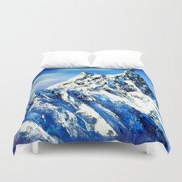 Panoramic View Of Everest Mountain Peak Duvet Cover