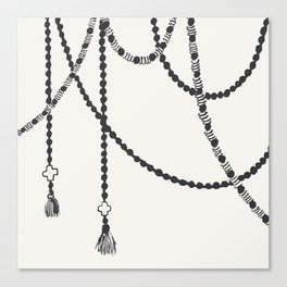 Beaded Garland With Tassels Canvas Print