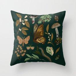 Green Natural Explorer Throw Pillow