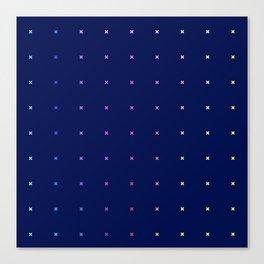X Rainbow Pattern Canvas Print