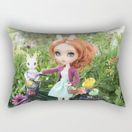 Easter Bunnies Rectangular Pillow
