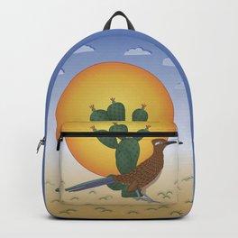Soul of the Southwest - Roadrunner in the Desert Backpack