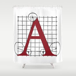 SEBASTIANO SERLIO ALPHABET – A Shower Curtain
