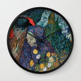 Memory of the Garden at Etten (Ladies of Arles) Wall Clock