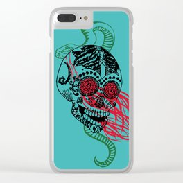 Skull and Snake Clear iPhone Case