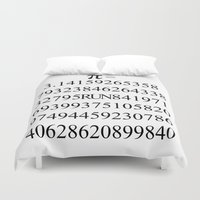 pi Duvet Covers featuring Pi by Anton Nikulin