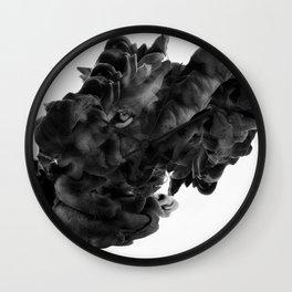 Lion in smoke ink Wall Clock