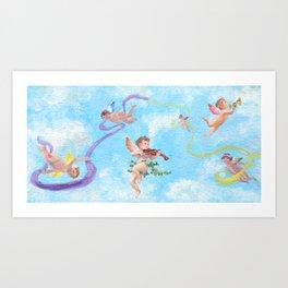 Celebratory Angels Art Print