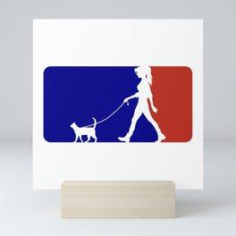 Major League Cat Walker (F) Mini Art Print