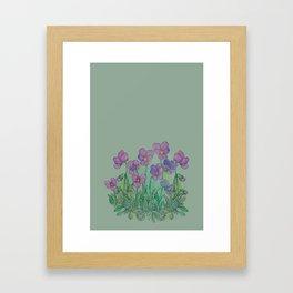 tiny little violets Framed Art Print