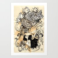 virgo Art Prints featuring Virgo by Anna Rosenfeld
