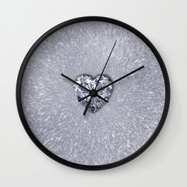 Diamond Love Wall Clock