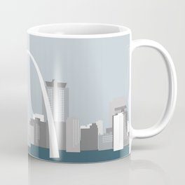 Modern Minimal St. Louis Missouri City Skyline Coffee Mug
