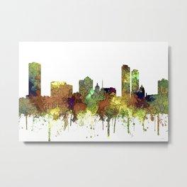Milwaukee, Wisconson Skyline SG - Safari Buff Metal Print