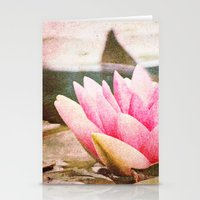 lotus flower Stationery Cards featuring Lotus by Around the Island (Robin Epstein)