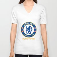 chelsea V-neck T-shirts featuring Chelsea by DeBUM