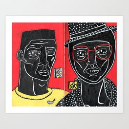 Black - Red - Yellow Art Print