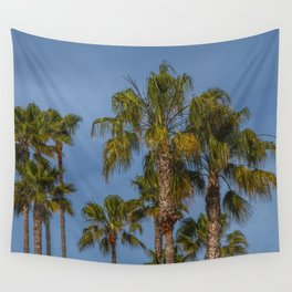 Palm Trees on Laguna Beach in California Wall Tapestry