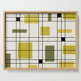 1950's Abstract Art Chartreuse Serving Tray