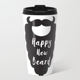 Happy New Beard Travel Mug