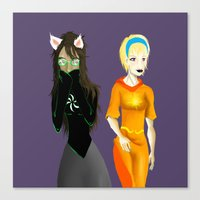 homestuck Canvas Prints featuring Beta Babes by Paula Urruti