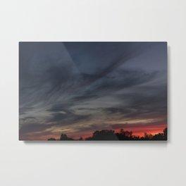 smoky colored sunset Metal Print