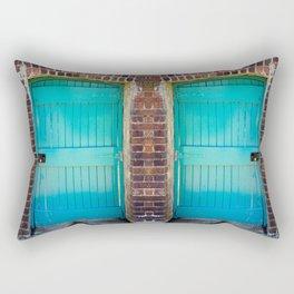Kylemore Abbey Victorian Garden Door Rectangular Pillow