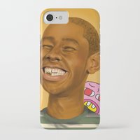 tyler the creator iPhone & iPod Cases featuring Tyler, The Creator by Karen Keller