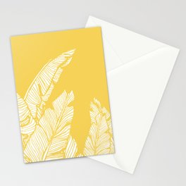 Banana Leaves on Yellow #society6 #decor #buyart Stationery Cards