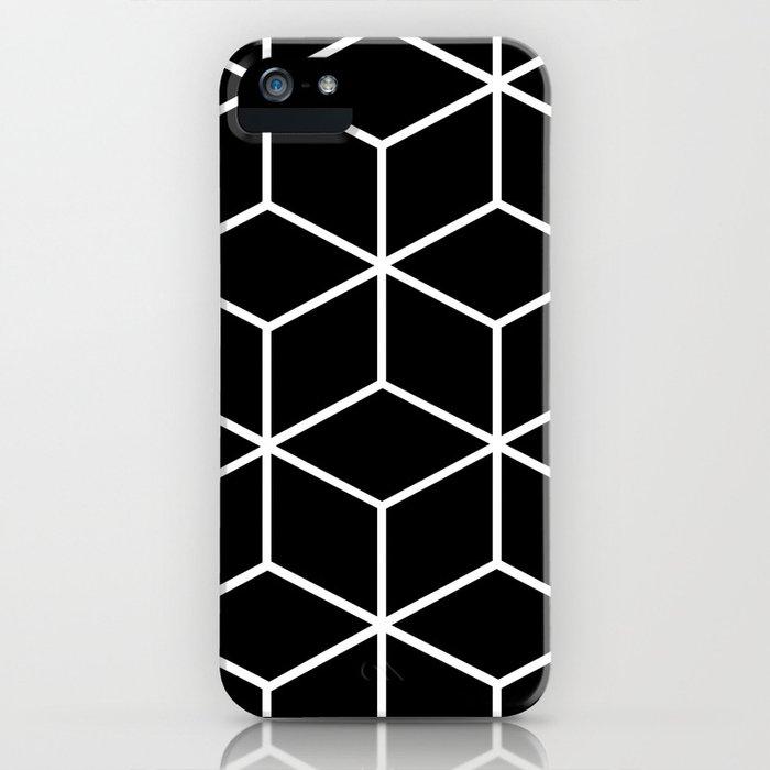 Black and White - Geometric Cube Design II iPhone Case