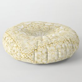 Orient Espresso Pattern Mandala Gold Floor Pillow