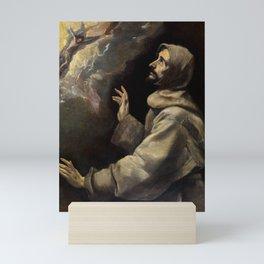 """El Greco (Domenikos Theotokopoulos) """"Saint Francis Receiving the Stigmata"""" Mini Art Print"""